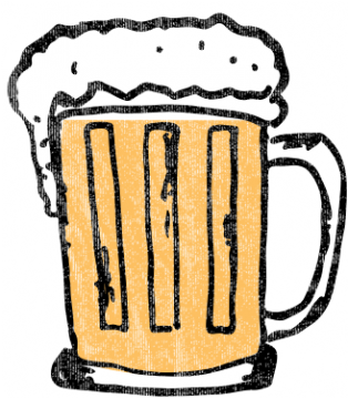 Illustration eines gefüllten Bierglases