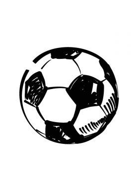Illustration eines Fußballs